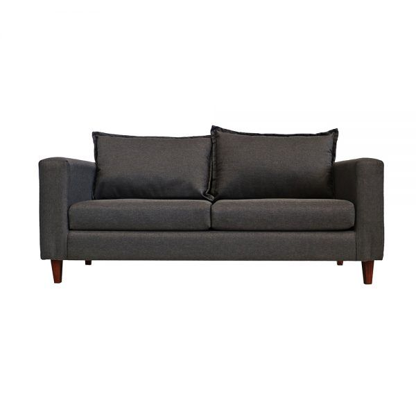 Living Naxos Sofa 3 Cuerpos 2 Sitiales Gris Oscuro 2