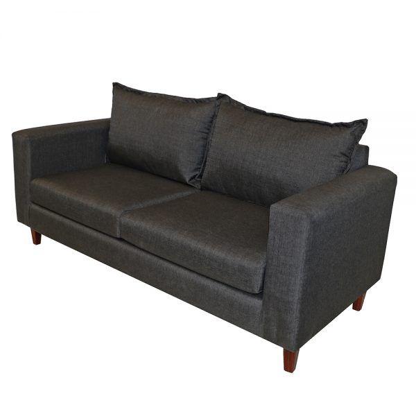 Living Naxos Sofa 3 Cuerpos 2 Sitiales Gris Oscuro 3