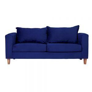 Living Naxos Sofa 3 Cuerpos Sillones Azul 2