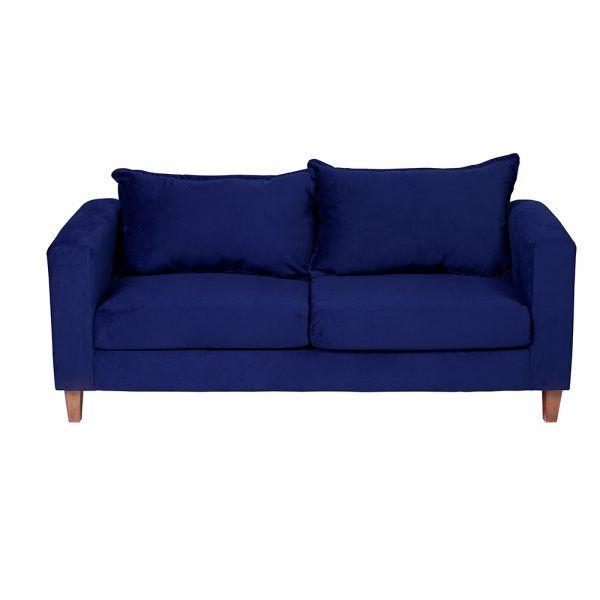 Living Naxos Sofa 3 Cuerpos Sillones Azul 3