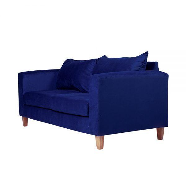 Living Naxos Sofa 3 Cuerpos Sillones Azul 4