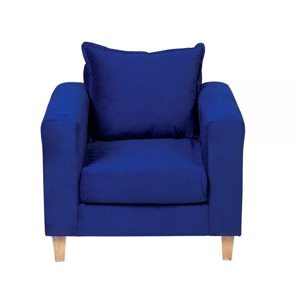 Living Naxos Sofa 3 Cuerpos Sillones Azul 6