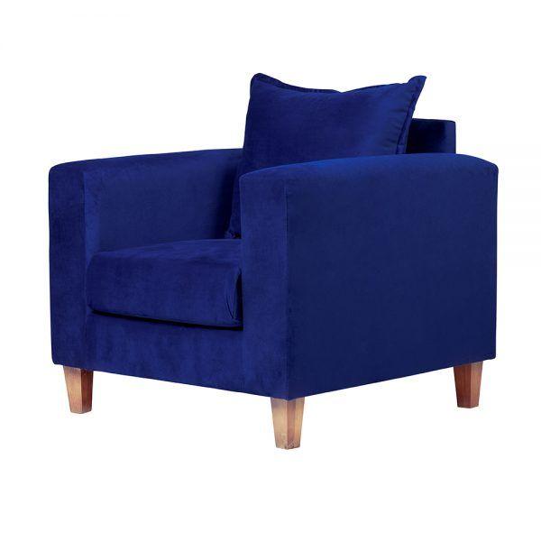 Living Naxos Sofa 3 Cuerpos Sillones Azul 7