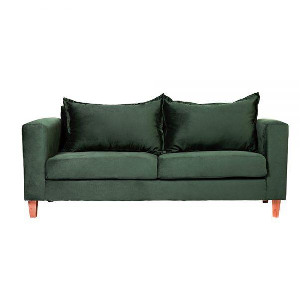Living Naxos Sofa 3 Cuerpos Sillones Verde 2