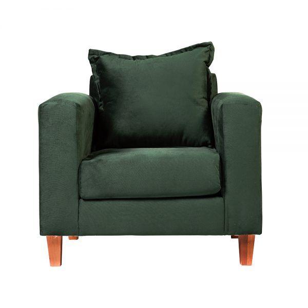 Living Naxos Sofa 3 Cuerpos Sillones Verde 5