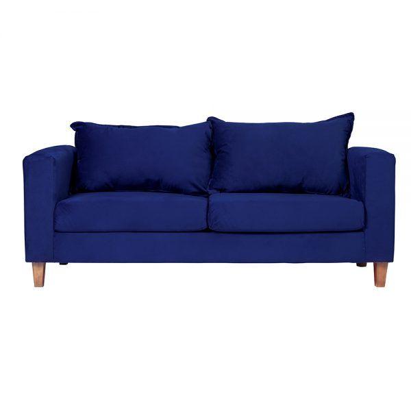 Living Naxos Sofa 3 Cuerpos Sitiales Azul 2
