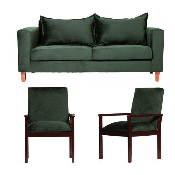 Living Naxos Sofa 3 Cuerpos Sitiales Verde 1