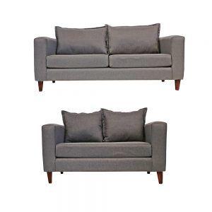 Living Naxos Sofa 3 Cuerpos Sofa 2 Cuerpos Gris 1