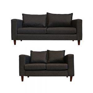 Living Naxos Sofa 3 Cuerpos Sofa 2 Cuerpos Gris Oscuro 1