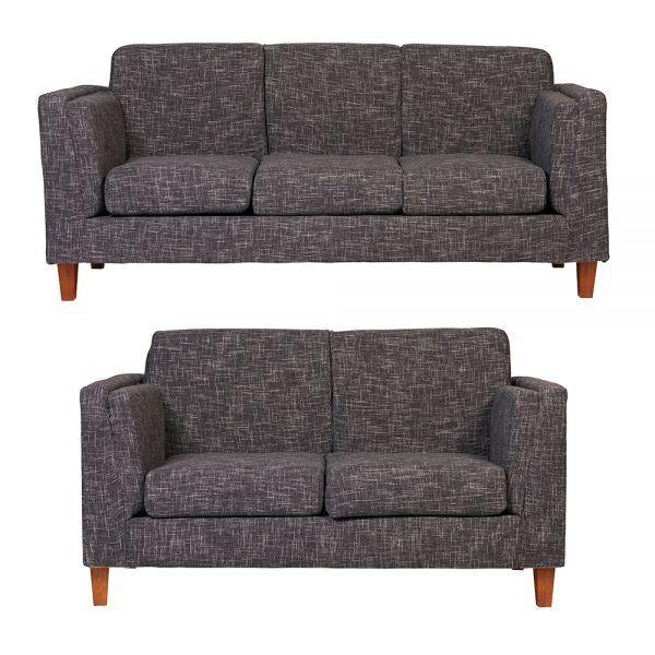 Living Parnaso Sofa 3 Cuerpos Sofa 2 Cuerpos Gris Oscuro 1
