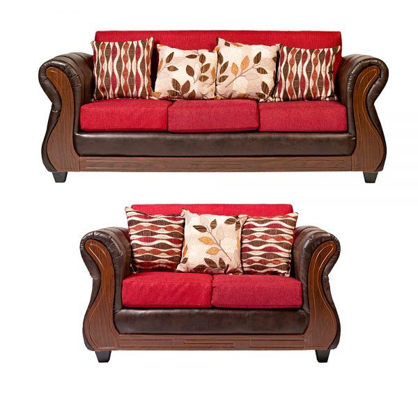 Living Richmond Sofa 3 Cuerpos Sofa 2 Cuerpos Rojo 1