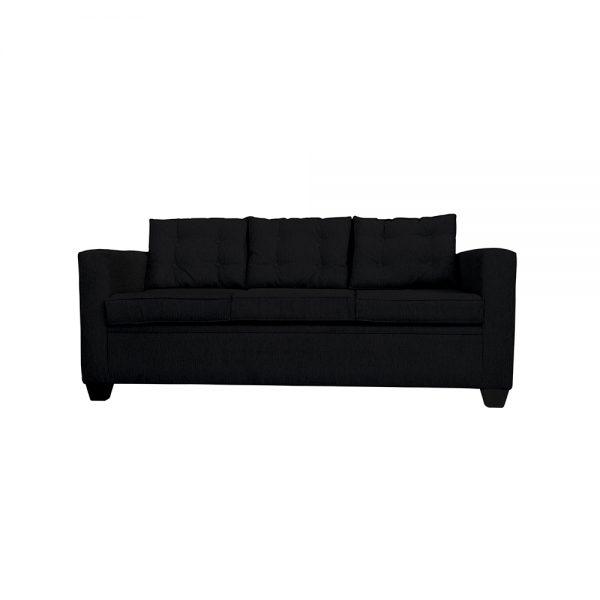 Living Rocky Sofa 3 Cuerpos 2 Sitiales Negro 2