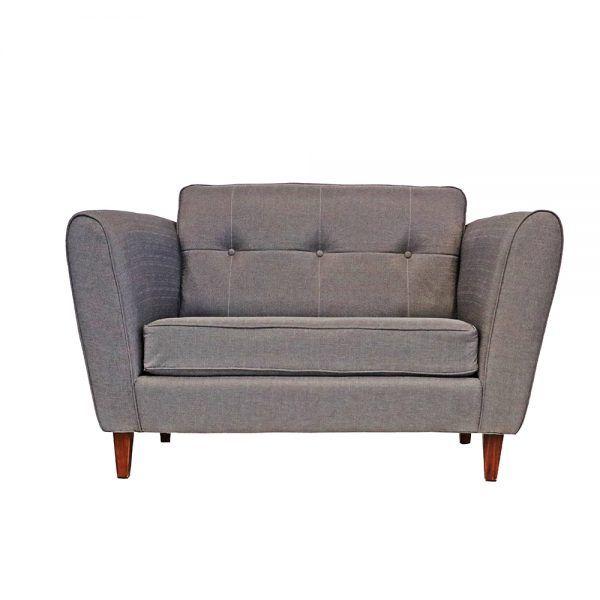 Living Rodas Sofa 2 Cuerpos 2 Sillones Gris 2