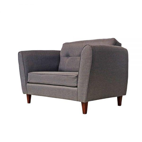 Living Rodas Sofa 2 Cuerpos 2 Sillones Gris 3