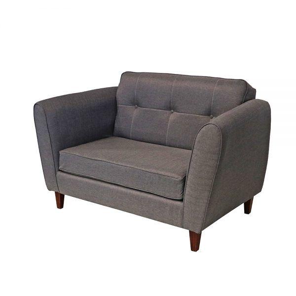 Living Rodas Sofa 2 Cuerpos 2 Sillones Gris 4