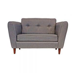 Living Rodas Sofa 2 Cuerpos 2 Sitiales Gris 2