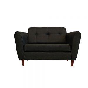 Living Rodas Sofa 2 Cuerpos 2 Sitiales Gris Oscuro 2