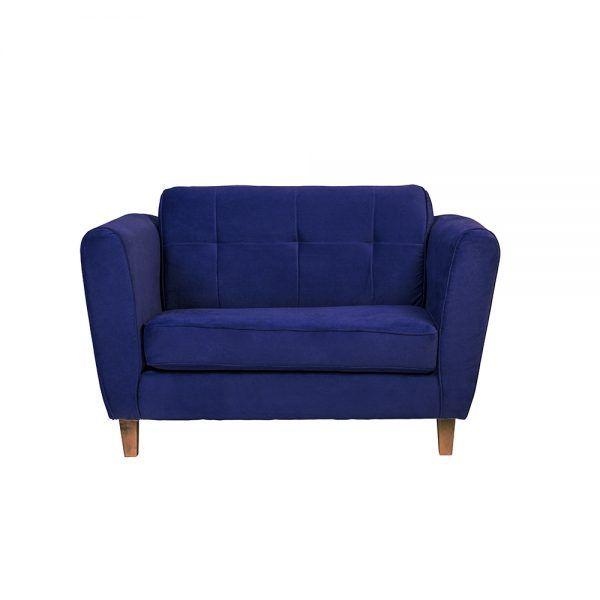 Living Rodas Sofa 2 Cuerpos Sillones Azul 2