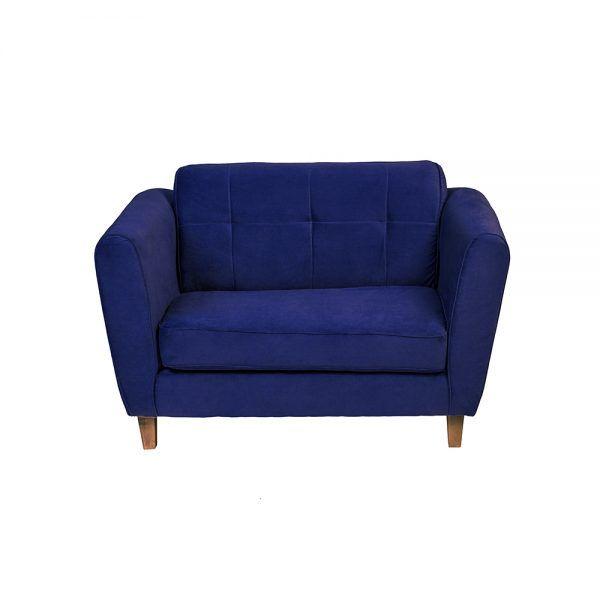 Living Rodas Sofa 2 Cuerpos Sillones Azul 3