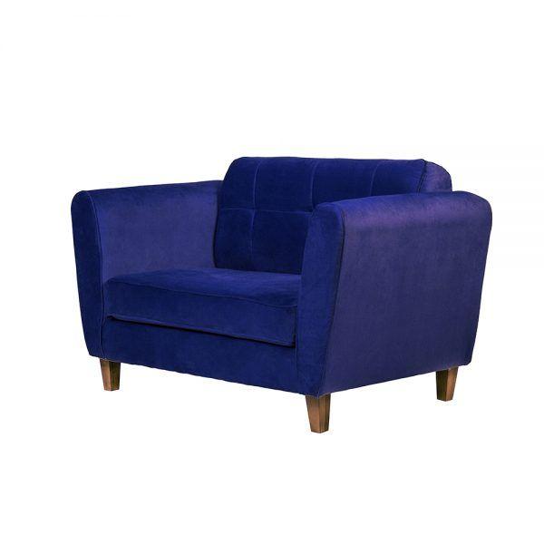 Living Rodas Sofa 2 Cuerpos Sillones Azul 4