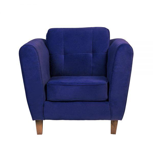 Living Rodas Sofa 2 Cuerpos Sillones Azul 5