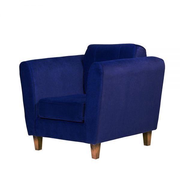 Living Rodas Sofa 2 Cuerpos Sillones Azul 7