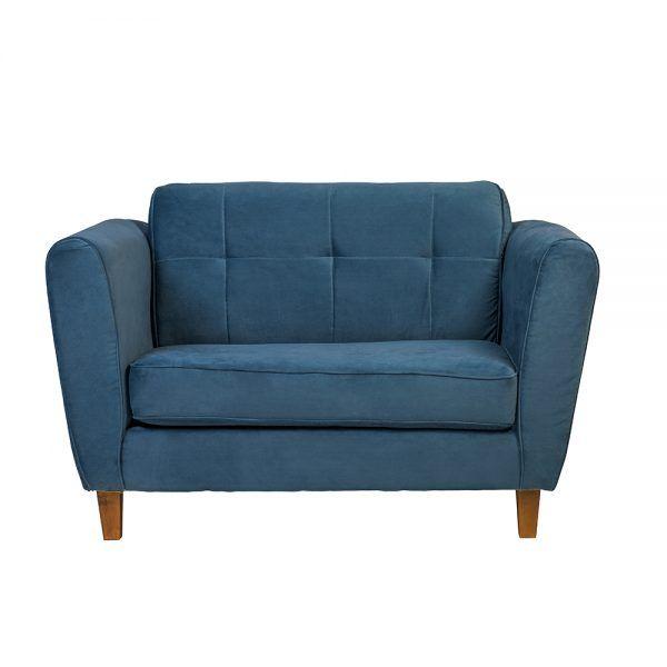 Living Rodas Sofa 2 Cuerpos Sillones Petroleo 2