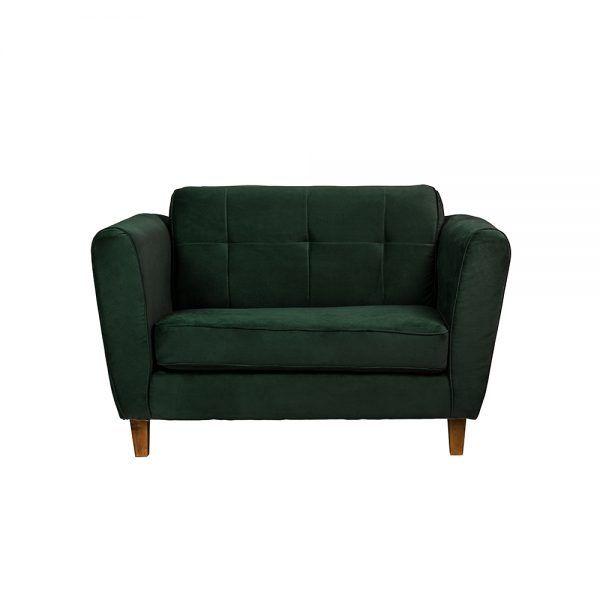Living Rodas Sofa 2 Cuerpos Sillones Verde 2
