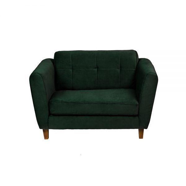 Living Rodas Sofa 2 Cuerpos Sillones Verde 3