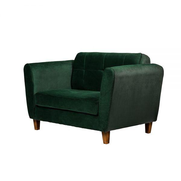 Living Rodas Sofa 2 Cuerpos Sillones Verde 4