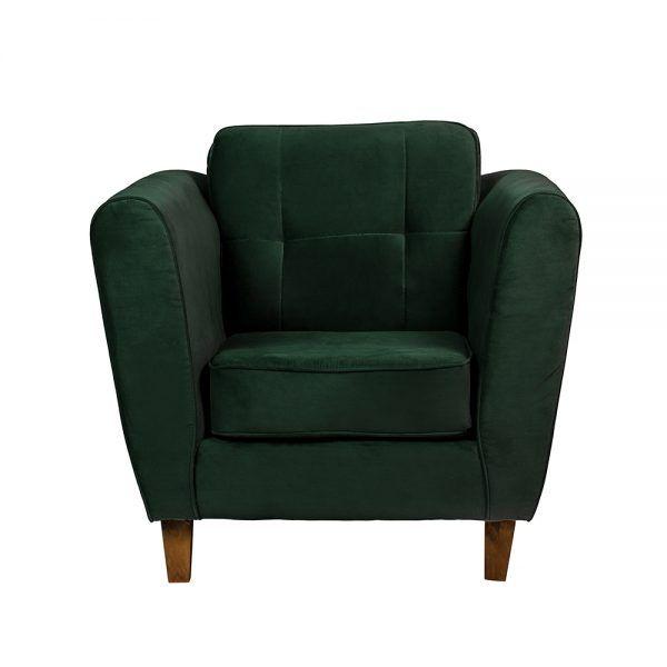 Living Rodas Sofa 2 Cuerpos Sillones Verde 5