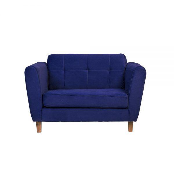 Living Rodas Sofa 2 Cuerpos Sitiales Azul 2
