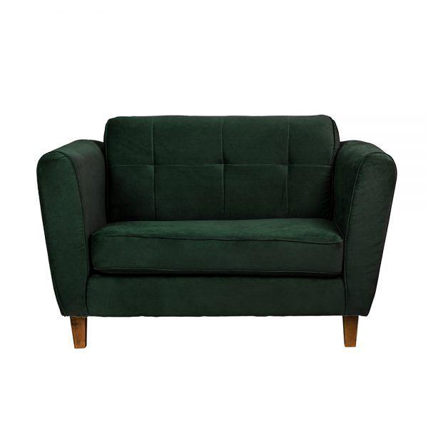 Living Rodas Sofa 2 Cuerpos Sitiales Verde 2