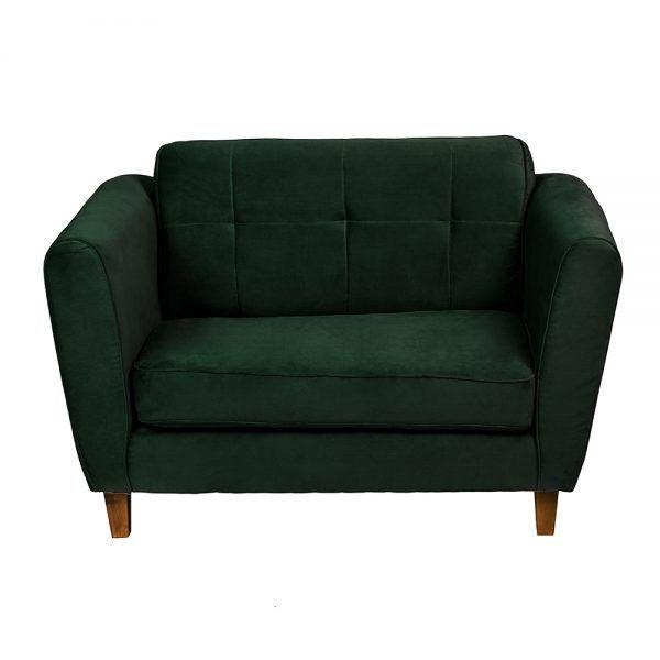 Living Rodas Sofa 2 Cuerpos Sitiales Verde 3