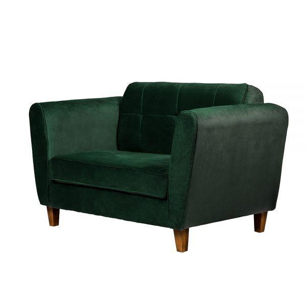 Living Rodas Sofa 2 Cuerpos Sitiales Verde 4