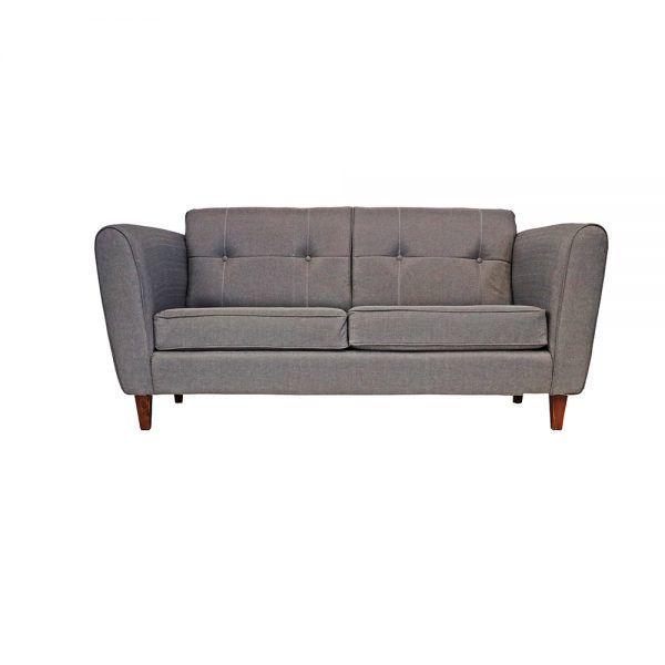 Living Rodas Sofa 3 Cuerpos 2 Sillones Gris 2
