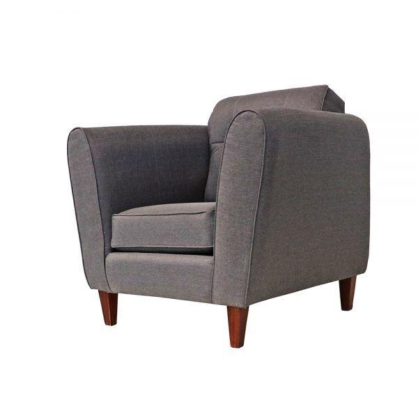 Living Rodas Sofa 3 Cuerpos 2 Sillones Gris 5