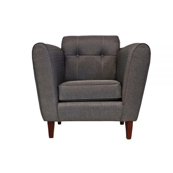 Living Rodas Sofa 3 Cuerpos 2 Sillones Gris 6