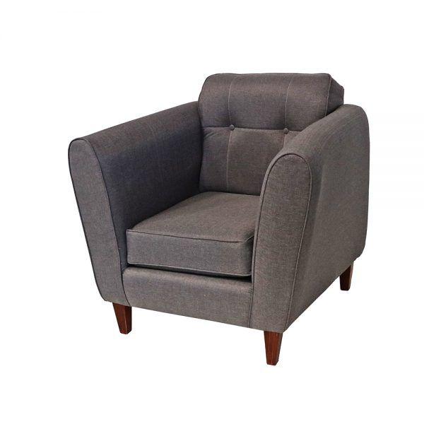 Living Rodas Sofa 3 Cuerpos 2 Sillones Gris 7