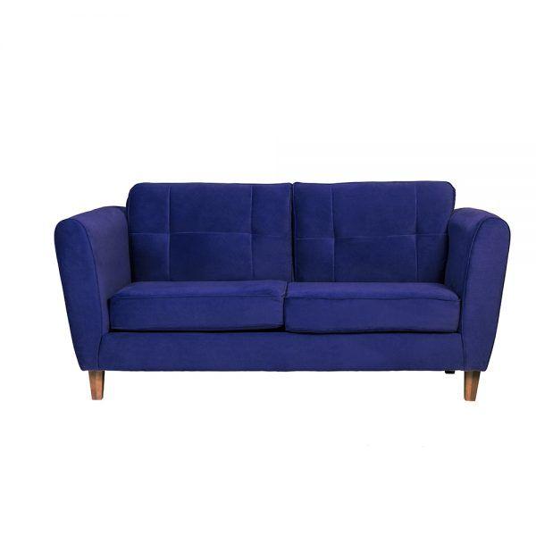Living Rodas Sofa 3 Cuerpos Sillones Azul 2