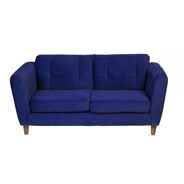 Living Rodas Sofa 3 Cuerpos Sillones Azul 3