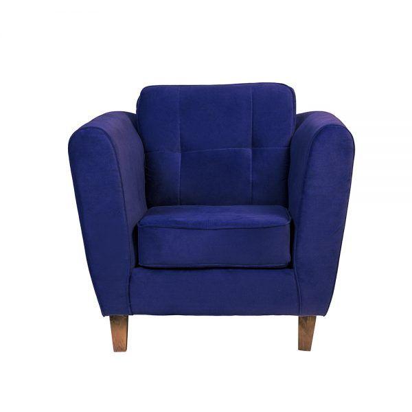 Living Rodas Sofa 3 Cuerpos Sillones Azul 5