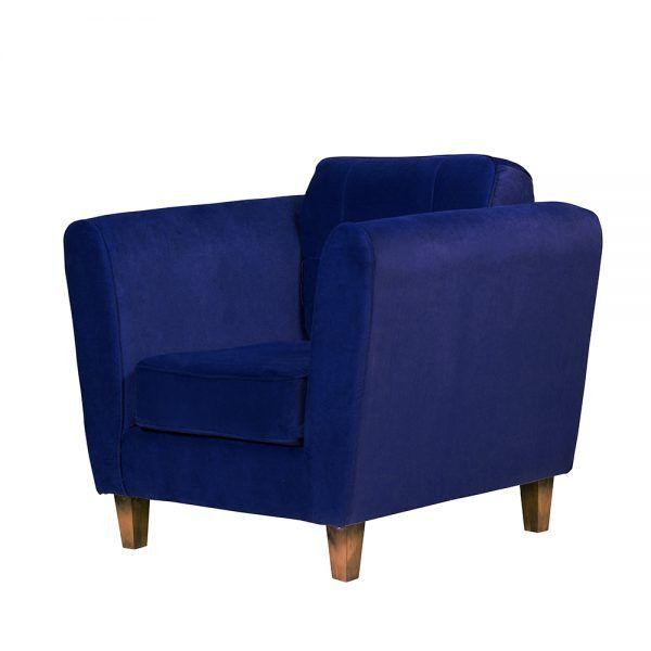 Living Rodas Sofa 3 Cuerpos Sillones Azul 7
