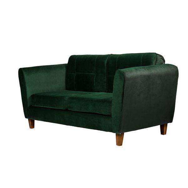 Living Rodas Sofa 3 Cuerpos Sillones Verde 4