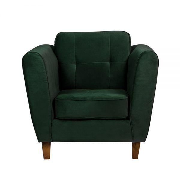 Living Rodas Sofa 3 Cuerpos Sillones Verde 5