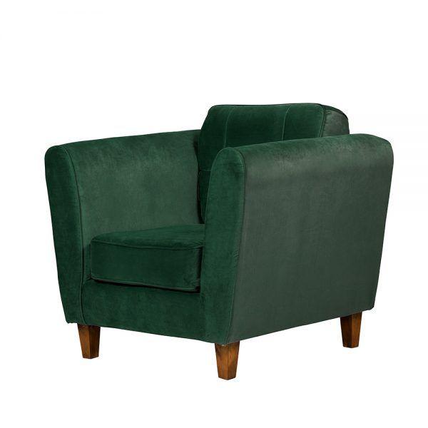 Living Rodas Sofa 3 Cuerpos Sillones Verde 7