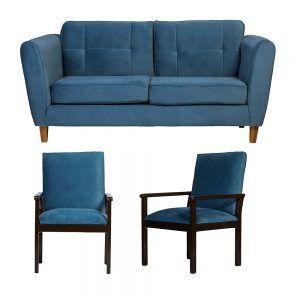 Living Rodas Sofa 3 Cuerpos Sitiales Petroleo 1