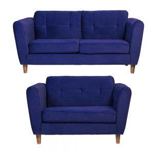 Living Rodas Sofa 3 Cuerpos Sofa 2 Cuerpos Azul 1