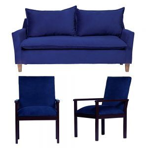 Living Santorini Sofa 3 Cuerpos Sitiales Azul 1