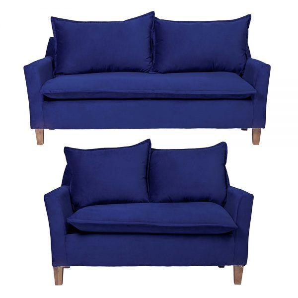 Living Santorini Sofa 3 Cuerpos Sofa 2 Cuerpos Azul 1